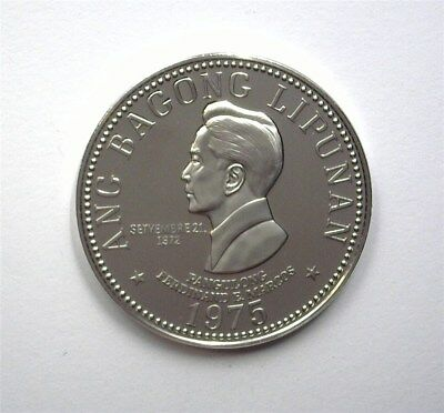 Philippines 1975 5 Piso  Km#210.1  Near Perfect Proof Dcam