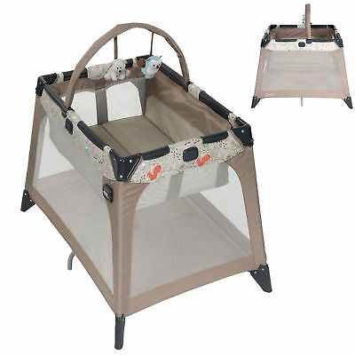 New Graco Woodland Walk Nimble Nook Bassinette Crib Portable Compact Travel Cot