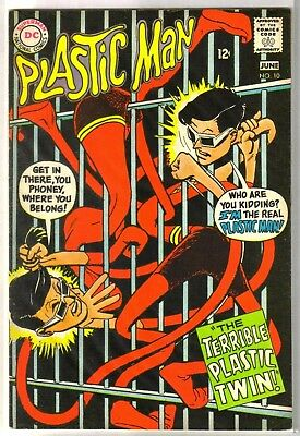 PLASTIC MAN #10 The Terrible Plastic Twin! DC Comic Book ~ FN