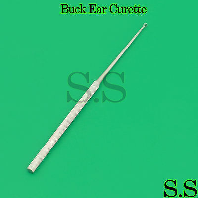 "10 Pcs Buck Ear Surgical Curettes #2 Blunt Straight 6.5"" Veterinary Instruments"