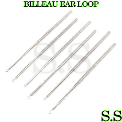 6 Pieces Of BILLEAU EAR LOOP Small + Medium + Large ENT Instruments