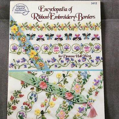 Deanna Hall West Encyclopedia of Ribbon Embroidery Borders 3412 Floral Bugs