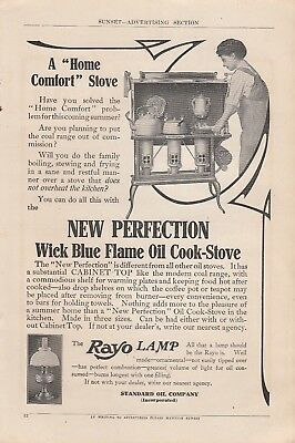 1909 Standard Oil Co Ad: A Home Comfort New Perfection Oil Cook Stove