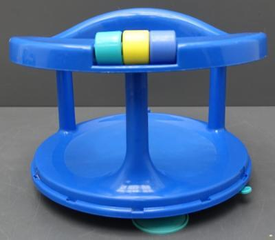 Safety First 1st Baby Bath Tub Ring Seat Blue Swivel Chair