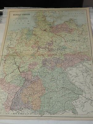 "1873 GERMAN EMPIRE WEST SHEET BY BARTHOLOMEW & A & C BLACK 18"" x 24"""