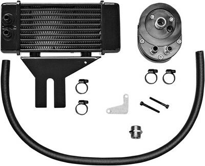 Jagg Lowmount 10-Row Oil Cooler System Black #750-2500 Harley Davidson Dyna