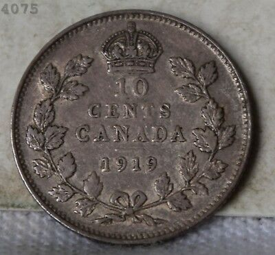 1919 *Silver* Canada 10 Cents *Free S/H After 1st Item*
