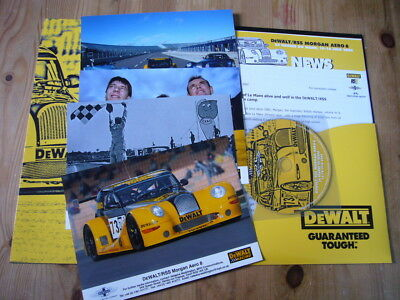 Morgan Aero 8 at Le Mans press kit with releases, CD & photos, 2002, excellent