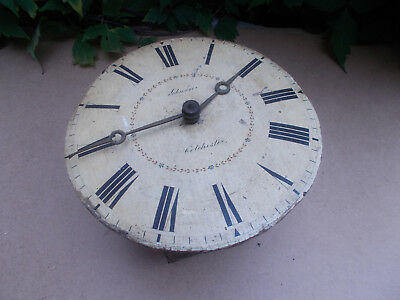 """Antique Black Forest Wooden Wall Mounted Postmans Clock Spares or Repair 9"""""""