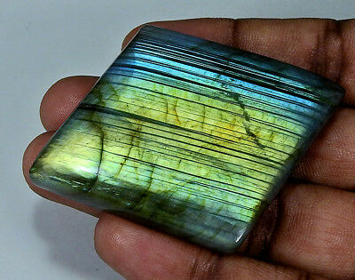 "193.60cts.Natural ""Charming"" Multi labradorite Cabochon Gemstone Fancy ;#22867"