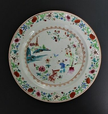 Antique Chinese 18th Century Yongzheng  Porcelain Plate