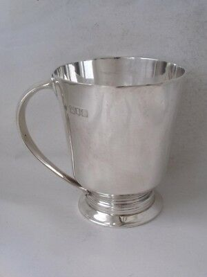 Stylish Antique Solid Sterling Silver Cup/ Mug 1915/ H 8.2 cm/ 142 g