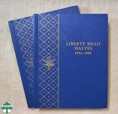 Lot Of 2 Used Liberty Head Halves Albums - 1892-1915 - No Coins - With Sleeves