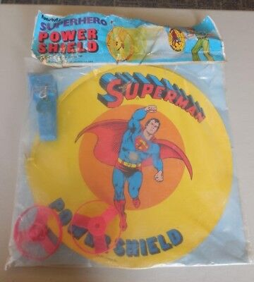 Superman Power Shield     Funstuf     Vintage Ripcord Toy    1976