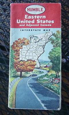 1957  Eastern  United States  road  map Humble  oil gas