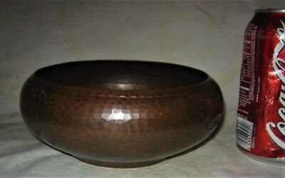 Antique Premium Quality Roycroft Usa Arts Crafts Mission Hammered Copper Bowl Us