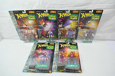 6x Marvel Comics Classic X-Men Action Figures Gambit Wolverine Psylocke etc NIB