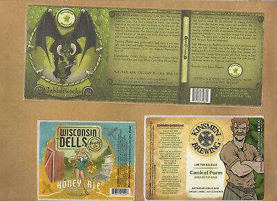 Big 25 U.S. Rare Micro Beer Label set  Do Not Miss Out !!!