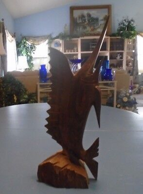 Ironwood Swordfish Statue 15.5 in. High EXCELLENT