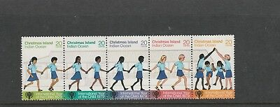 Christmas Island Setenant strip of 5 year of the Child 20 MUH stamps