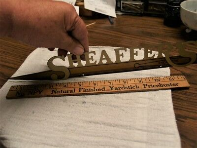 Sheaffer cut metal painted 1920's sign for store pen display area (7988)