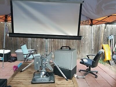 Vintage Keystone Regal K-109 8mm Film Movie Projector With Case Works