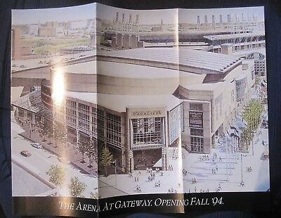 1994 Opening Of Arena At Gateway Cleveland Cavs Cavaliers New Staduim Brochure