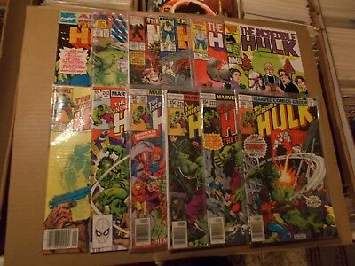 INCREDIBLE HULK 221-222,224,227,282,291,319,326,341,385,400 ANNUAL 17  vfn  vfn+