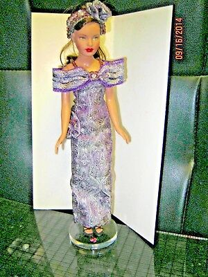 """Ooak Beautiful 2 PC gown To Fit  10"""" TINY KITTY COLLIER FASHION DOLLS"""