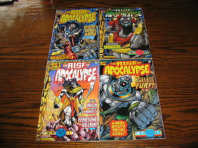 Marvel - THE RISE OF APOCALYPSE 1 - 4 Complete Set!!  1996 Glossy VF
