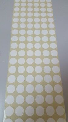 420  White 19mm Circle Sticky Dot Labels Stickers