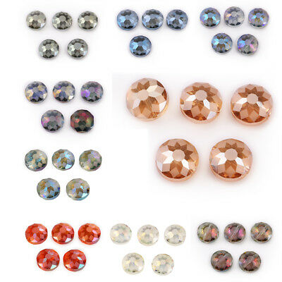 DIY 18MM 10Pcs Polish Faceted Carve Crystal Glass Flying Spacer Loose Beads Gift