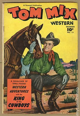 Tom Mix Western (Fawcett) #12 1948 VG- 3.5