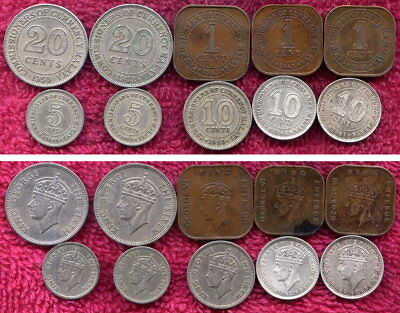 10 Coins from Malaya