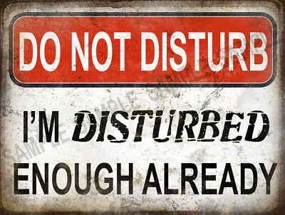 Beware I'm Disturbed Already Funny Metal Sign Home Decor:man Cave: Great  Gift