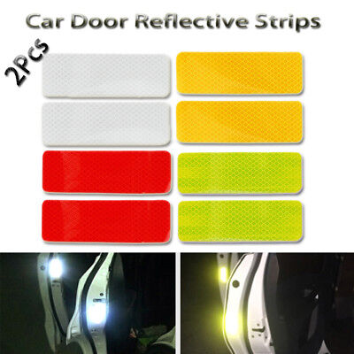 Safety Driving Warning Mark  Car Door Reflective Strips  Luminous Stickers