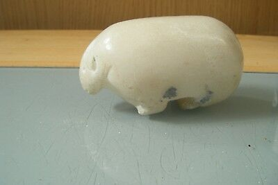 carved stone/soapstone possibly chinese figure of a animal (bear/sheep?)