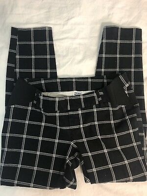 Old Navy Maternity Small Size 2 Plaid Pixie Pants Dress Or Casual