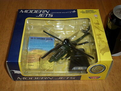 """USA, AH-64 LONGBOW APACHE HELICOPTER, MOTOR MAX TOY, Die Cast Metal Toy, 5"""" LONG"""
