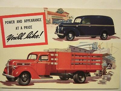 1941 FORD Panel Delivery, dealer postcard, GROSS Motor Co., Clayton, IL