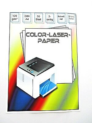 Color-Laser Papier A4, 120g,weiß , matt ,