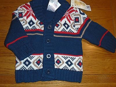 BNWT baby boy patterned jumper. 3-6 months. Baby