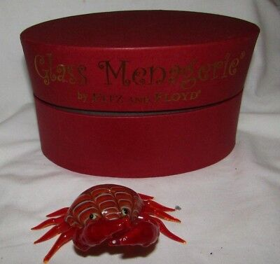 2004 FITZ and FLOYD GLASS MENAGERIE CRAB IN ORIGINAL BOX