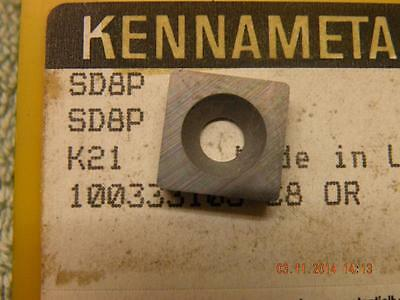 x1 OFF KENNAMETAL SHIM OR HSS INSERT SD8P K21 KENNAMETAL SEATING NEW