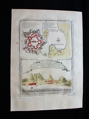 1754 BELLIN - rare map: AFRICA SOUTH, CAPE of GOOD HOPE, SALDANHA BAY, CAPE TOWN