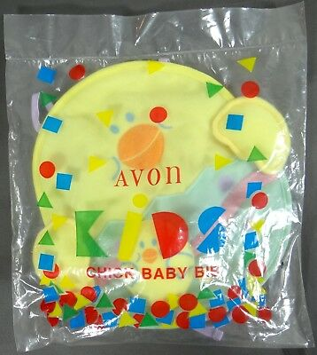 Vintage AVON Chick Baby Bib Easter Squeaky Toy Machine Wash New Sealed 1995 RARE