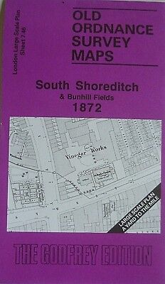 Old Ordnance Survey Map South Shoreditch London 1872 Large Scale Map