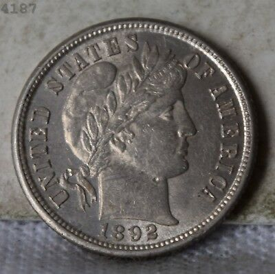 """1892 Barber Dime """"Choice BU"""" *Free S/H After 1st Item*"""