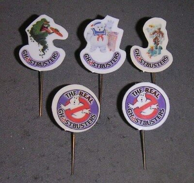 5 Ghostbusters stick pin badges.