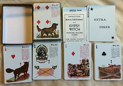 Vintage Gypsy Witch Fortune Telling Playing Cards Complete Deck w/Instructions